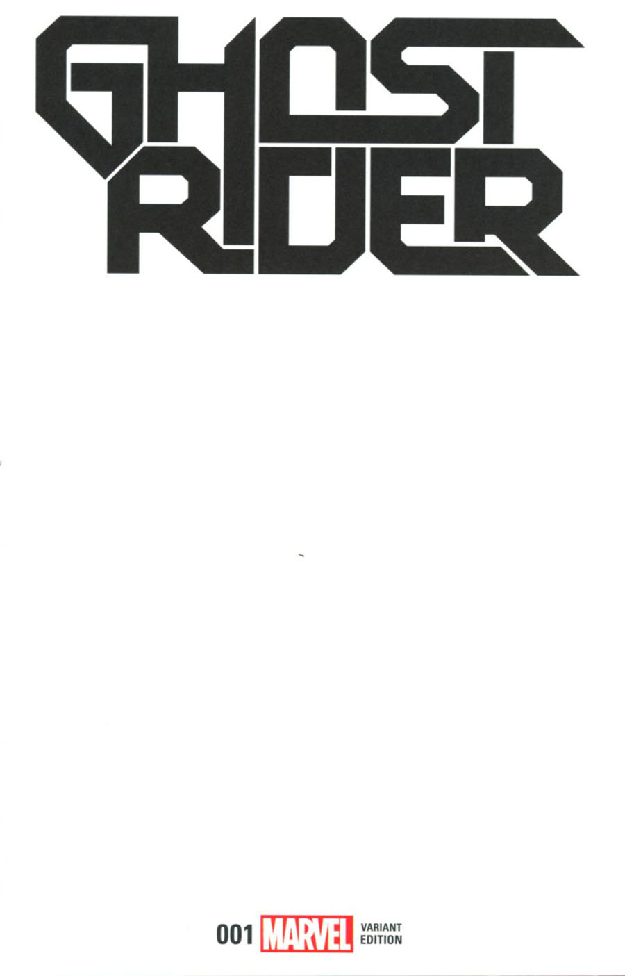 Ghost Rider Vol 7 #1 Cover D Variant Blank Cover (Marvel Now Tie-In)