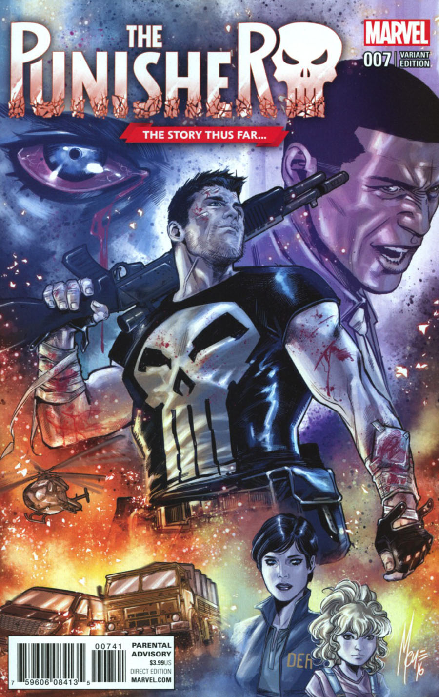 Punisher Vol 10 #7 Cover B Variant Marco Checchetto Story Thus Far Cover (Marvel Now Tie-In)