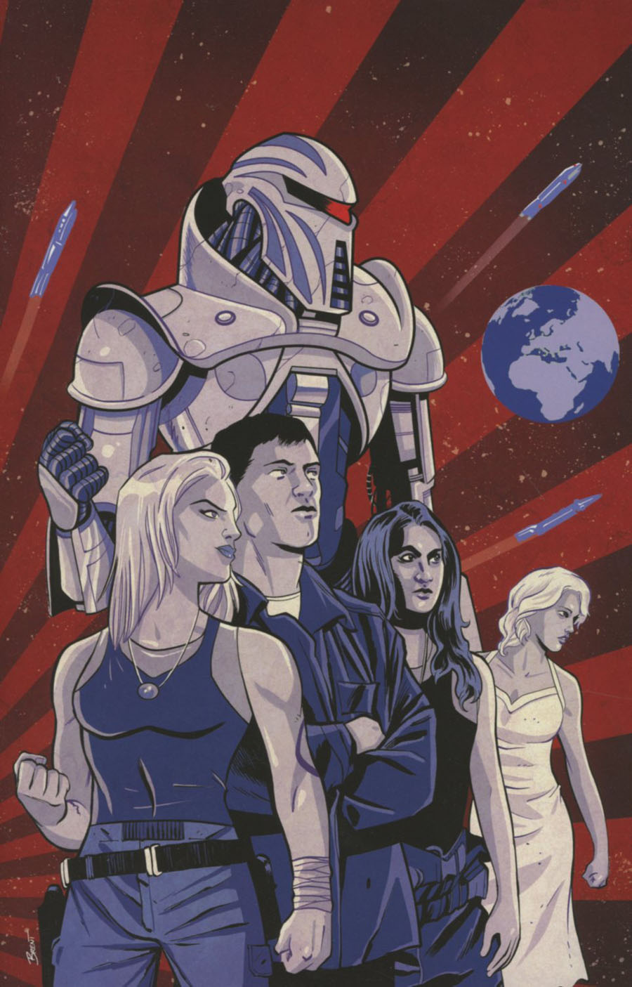 Battlestar Galactica Gods & Monsters #1 Cover E Incentive Brent Schoonover Virgin Cover