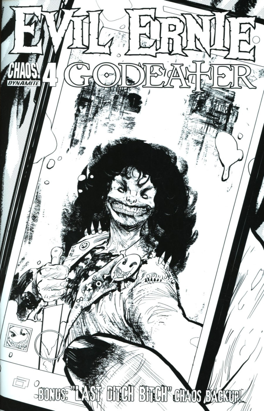 Evil Ernie Godeater #4 Cover C Incentive Kyle Strahm Black & White Cover
