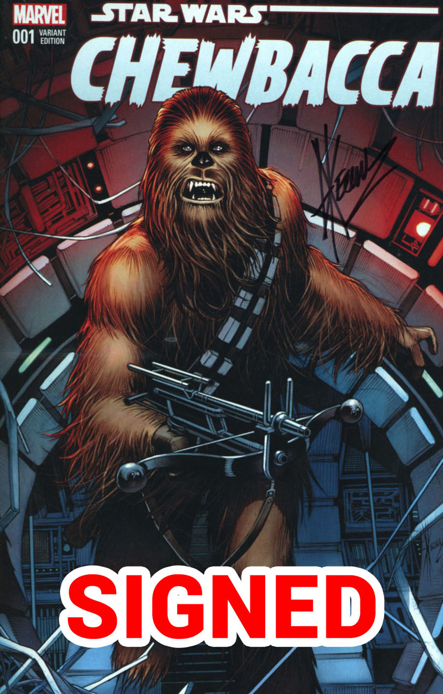 Chewbacca #1 Cover K DF AOD Collectables Exclusive Dale Keown Variant Cover Signed By Dale Keown