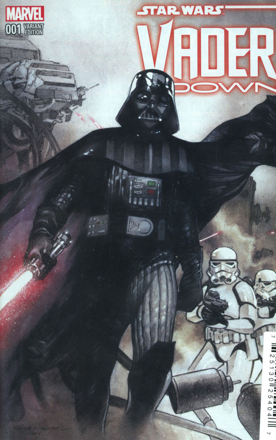Star Wars Vader Down #1 Cover O DF Exclusive Olivier Coipel Variant Cover Plus 2 (Vader Down Part 1)