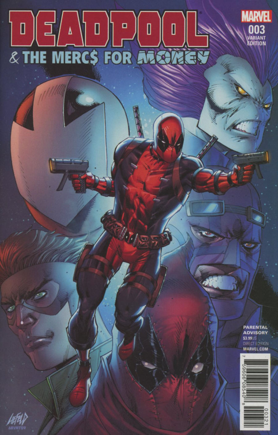 Deadpool And The Mercs For Money Vol 2 #3 Cover B Incentive Rob Liefeld Variant Cover