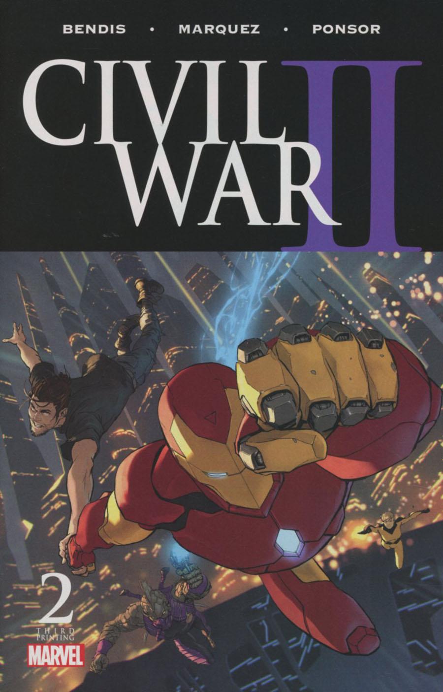 Civil War II #2 Cover H 3rd Ptg Marko Djurdjevic Variant Cover