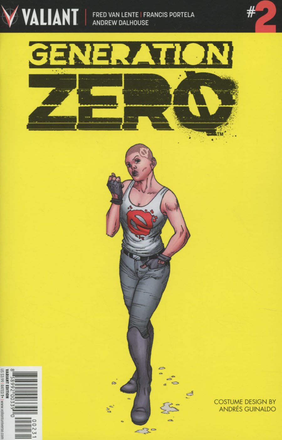 Generation Zero #2 Cover C Incentive Andres Guinaldo Character Design Variant Cover