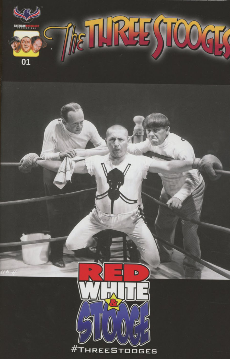 Three Stooges Red White & Stooge #1 Cover D Incentive Photo Black & White Variant Cover