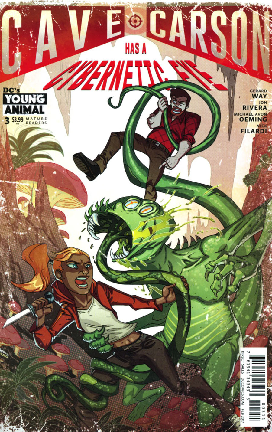 Cave Carson Has A Cybernetic Eye #3 Cover A Regular Michael Avon Oeming Cover