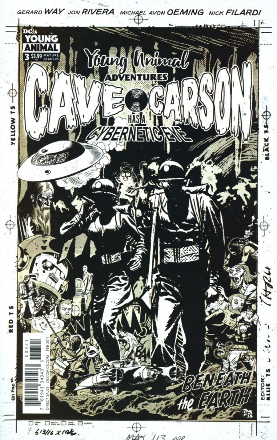 Cave Carson Has A Cybernetic Eye #3 Cover B Variant Paul Rentler Cover