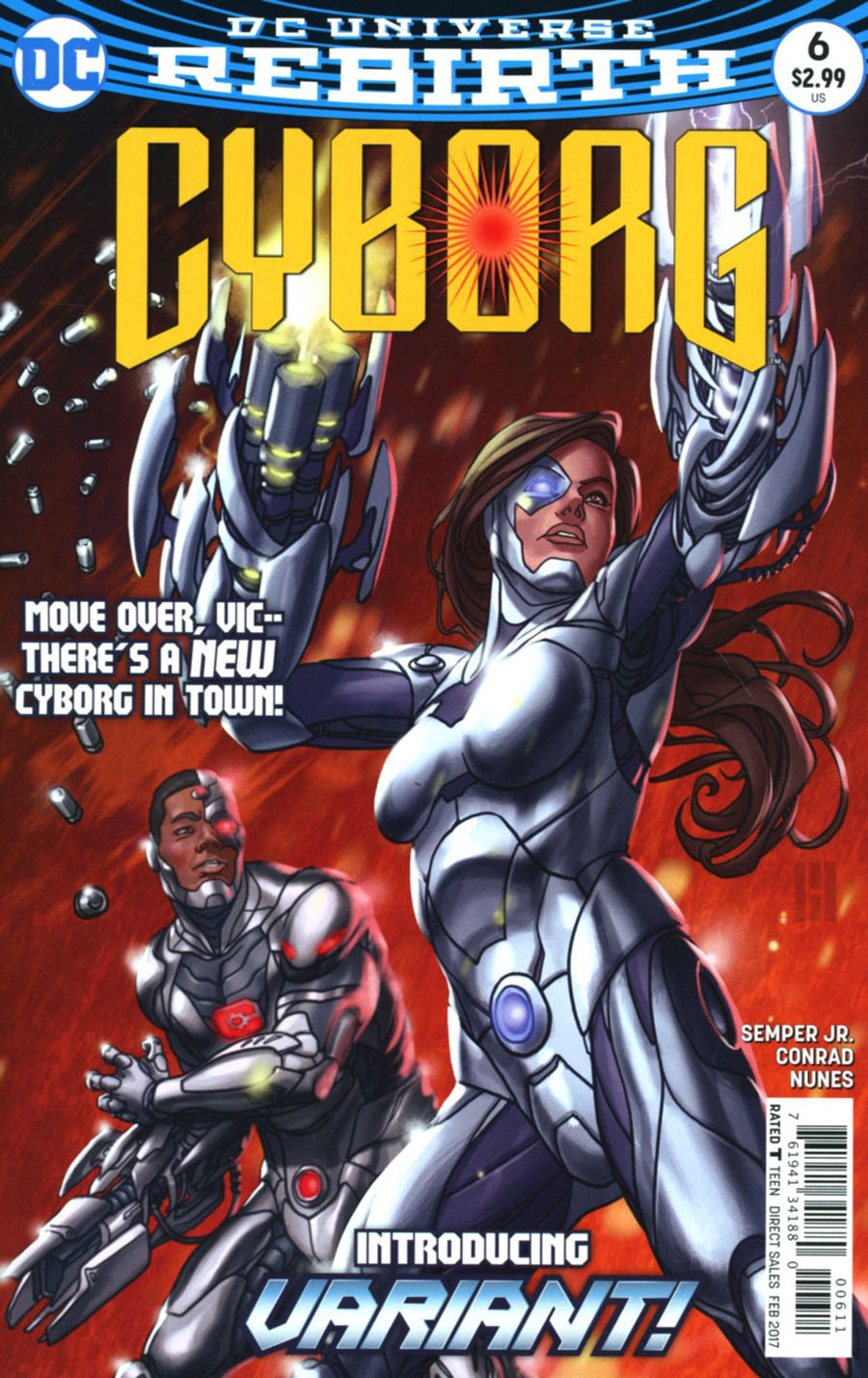 Cyborg Vol 2 #6 Cover A Regular Mike Choi Cover