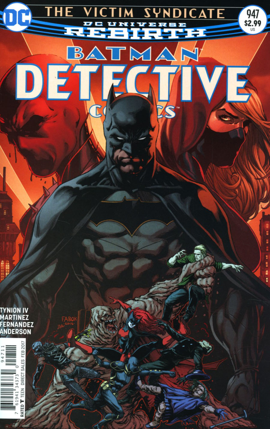 Detective Comics Vol 2 #947 Cover A Regular Jason Fabok Cover