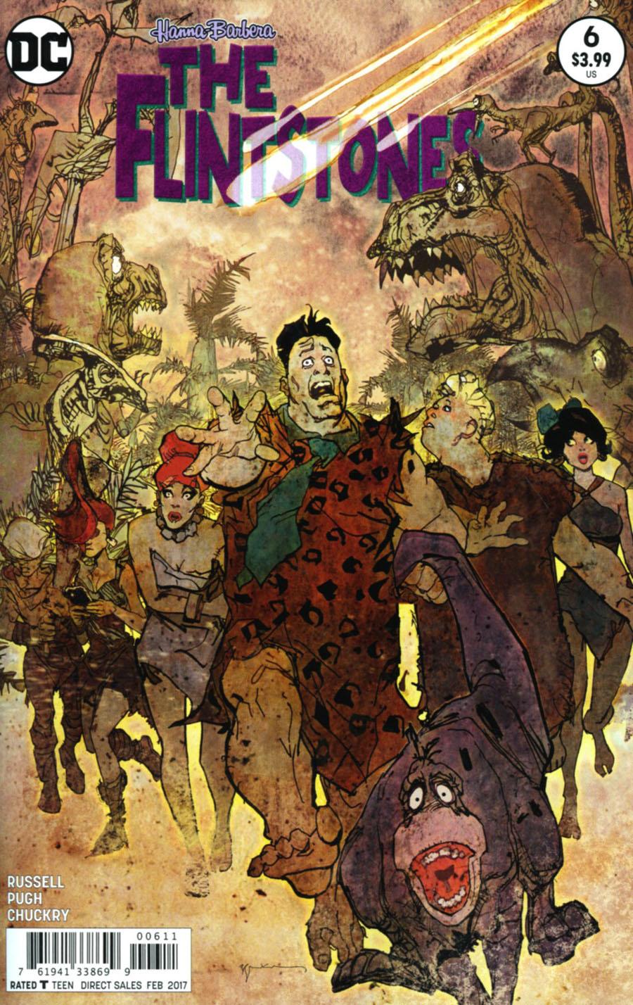 Flintstones (DC) #6 Cover A Regular Bill Sienkiewicz Cover