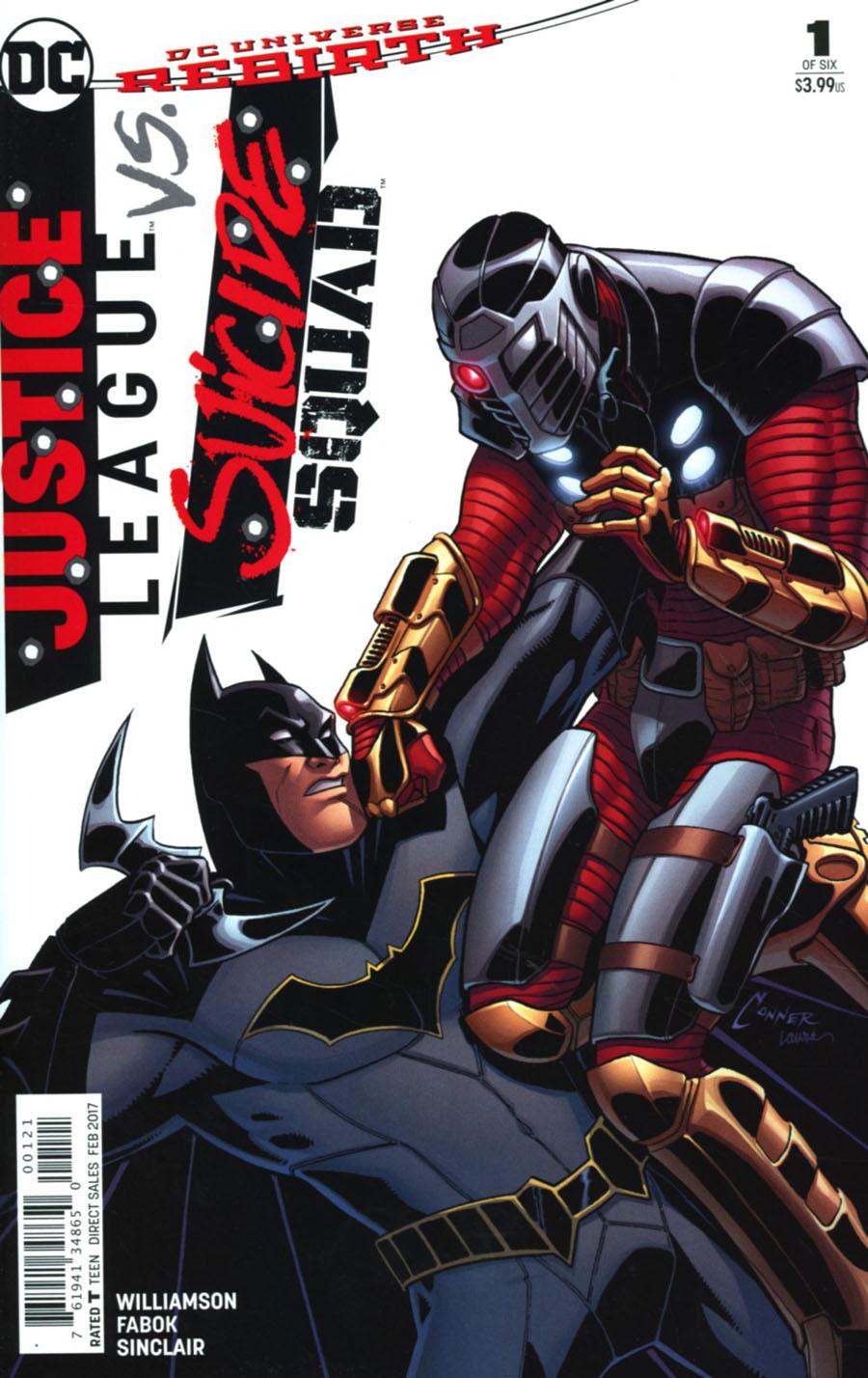 Justice League vs Suicide Squad #1 Cover E Variant Amanda Conner Justice League Cover
