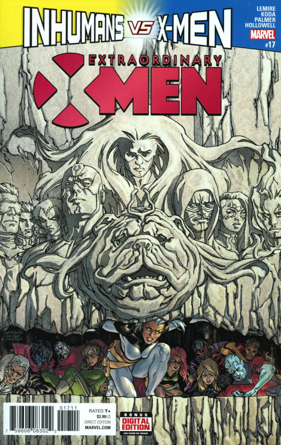 Extraordinary X-Men #17 Cover A Regular David Yardin Cover (Inhumans vs X-Men Tie-In)