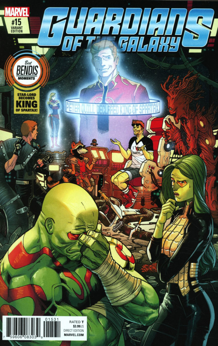 Guardians Of The Galaxy Vol 4 #15 Cover B Variant Best Bendis Moments Cover (Marvel Now Tie-In)