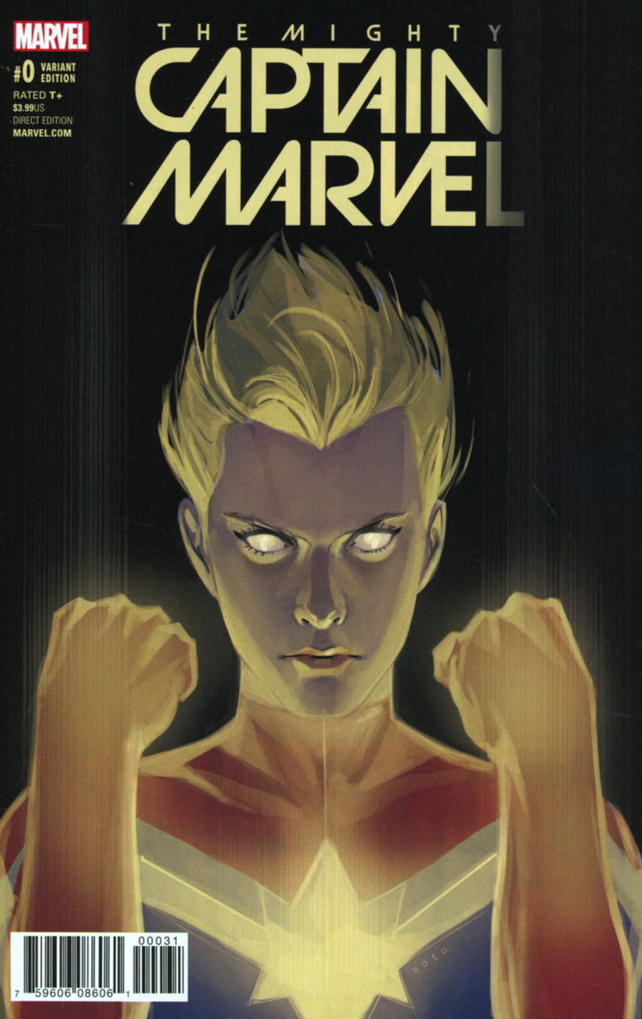 Mighty Captain Marvel #0 Cover C Variant Phil Noto Cover (Marvel Now Tie-In)