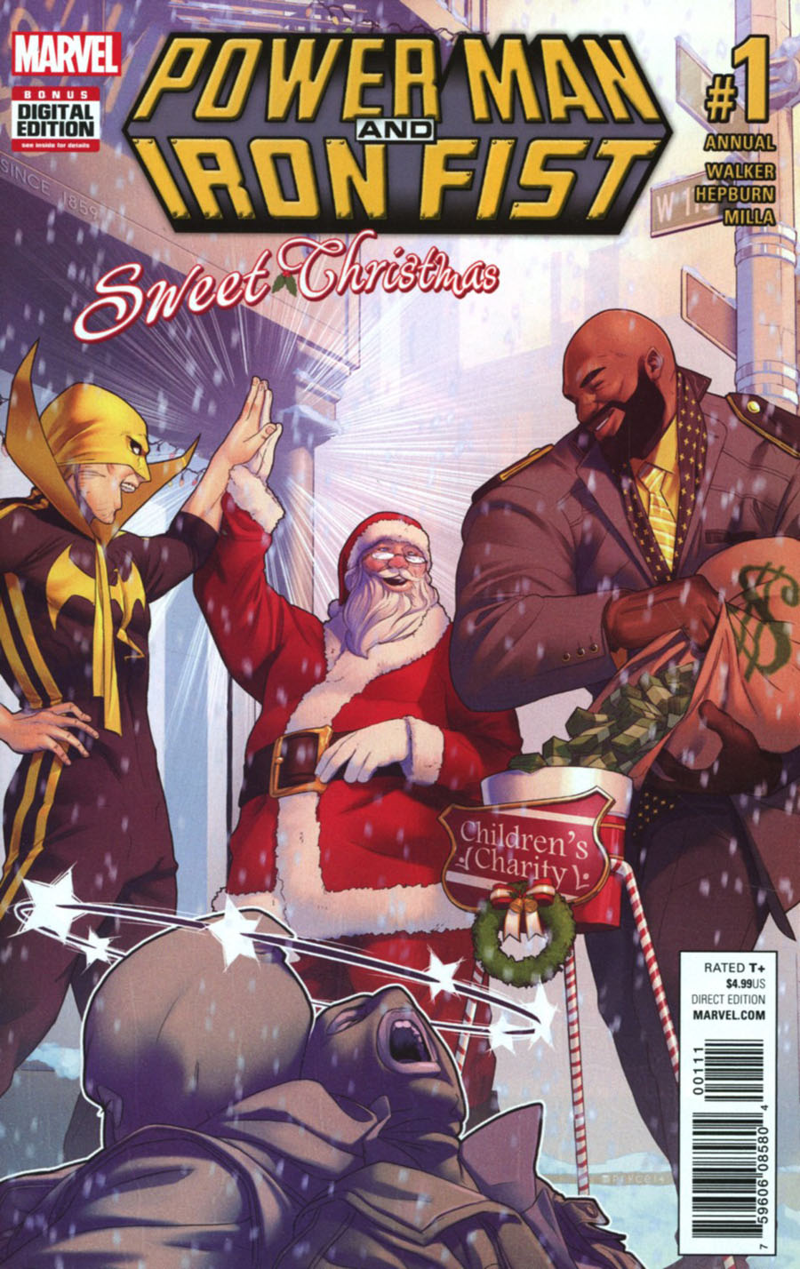 Power Man And Iron Fist Vol 3 Sweet Christmas Annual #1 Cover A Regular Jamal Campbell Cover