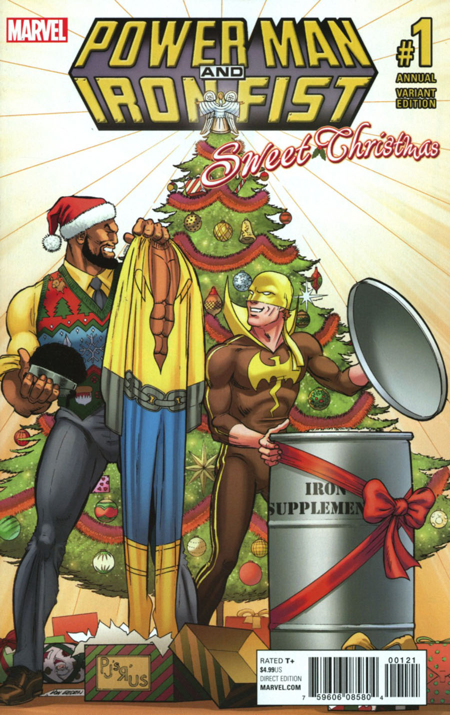 Power Man And Iron Fist Vol 3 Sweet Christmas Annual #1 Cover B Variant Trevor Von Eeden Cover