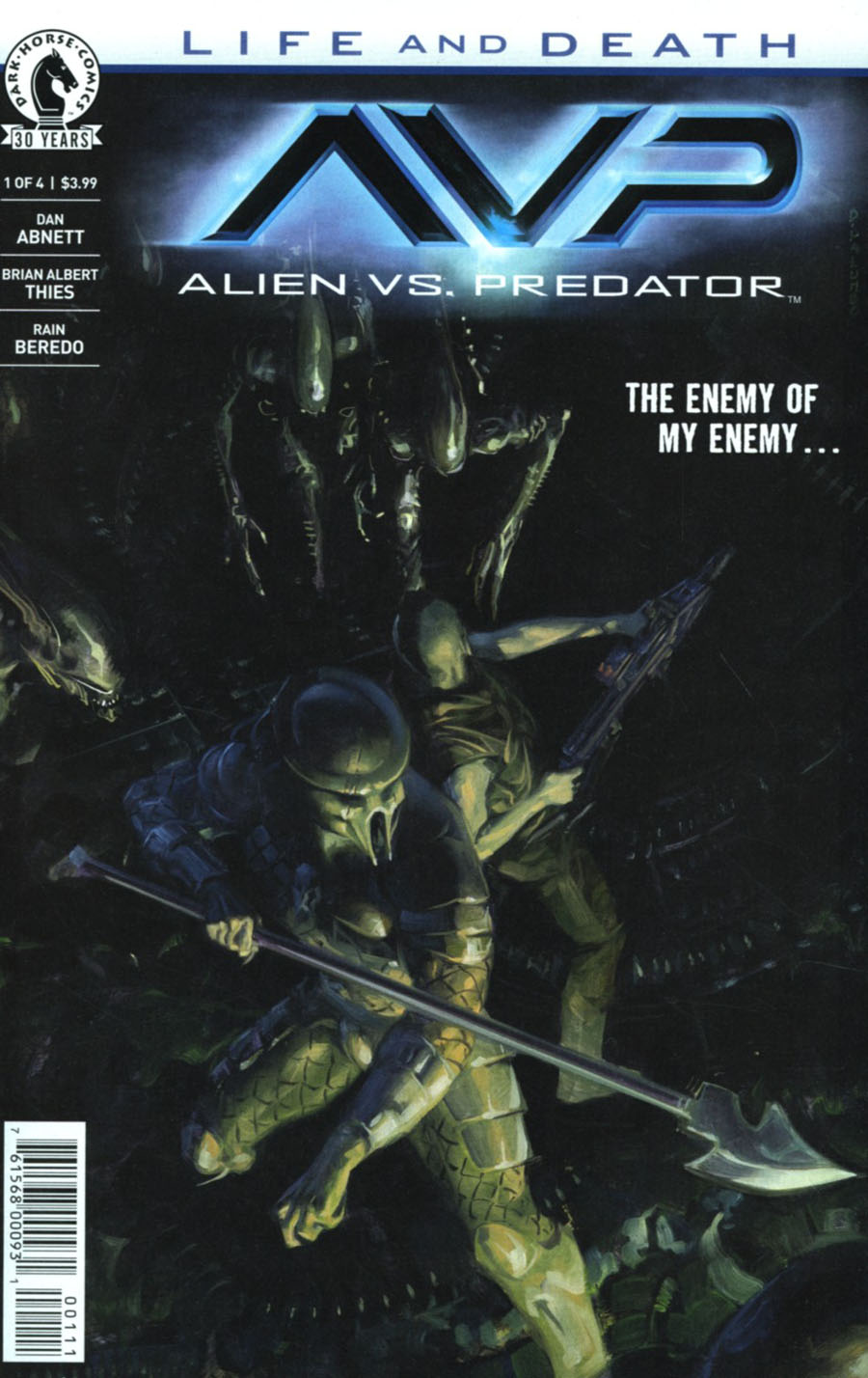 Aliens vs Predator Life And Death #1 Cover A Regular David Palumbo Cover