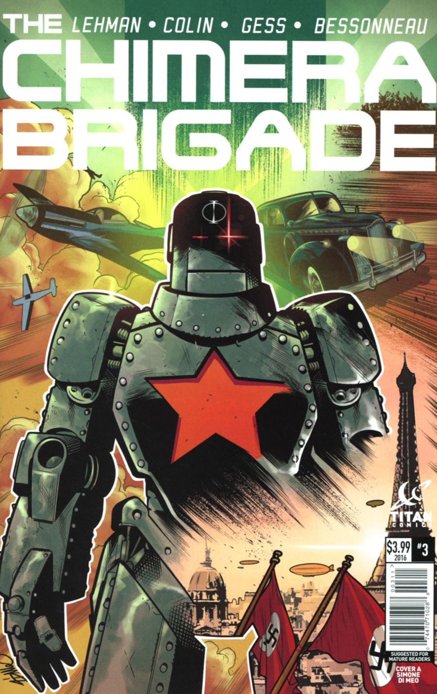 Chimera Brigade #3 Cover A Regular Simone Di Meo Cover