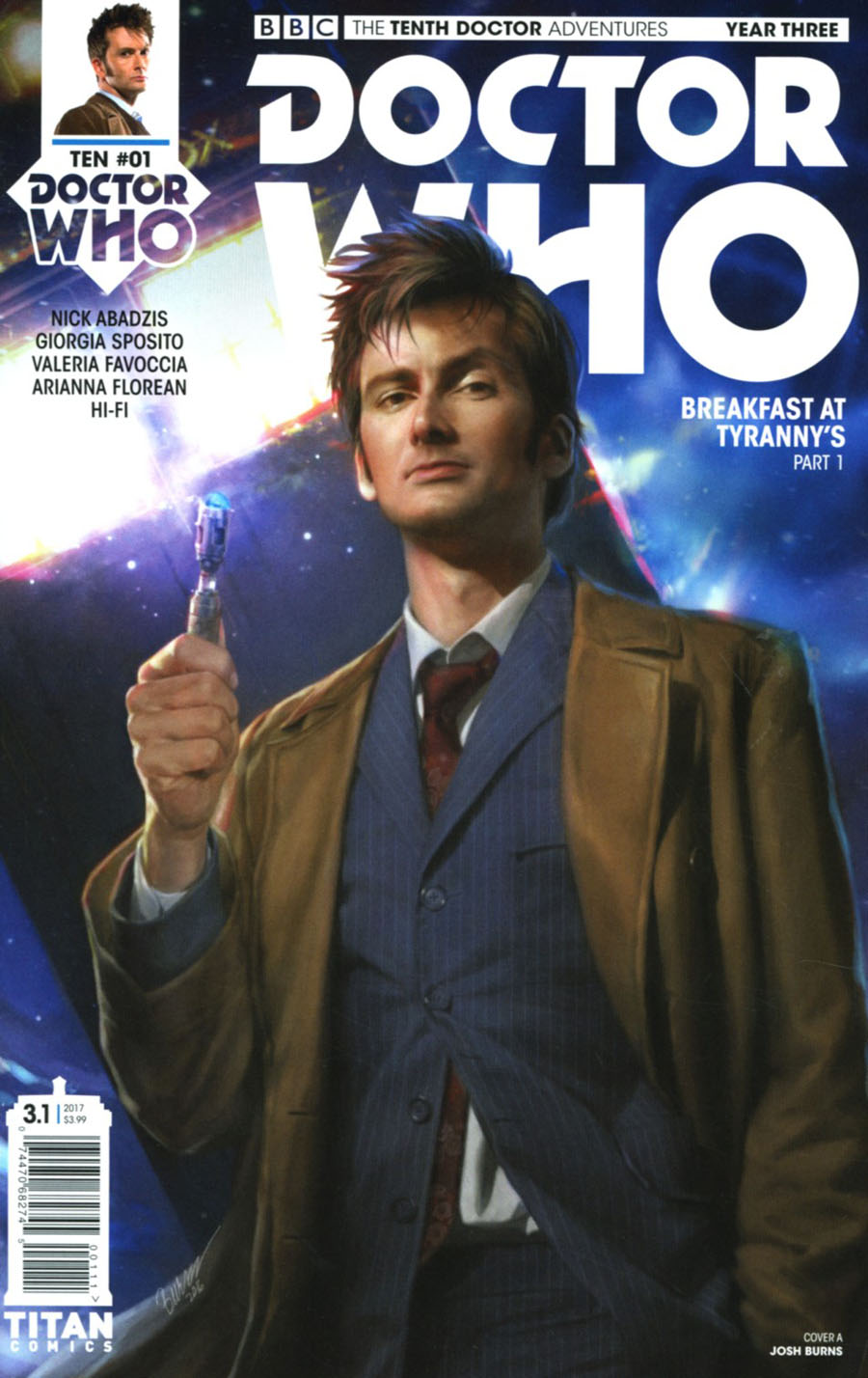 Doctor Who 10th Doctor Year Three #1 Cover A Regular Josh Burns Cover