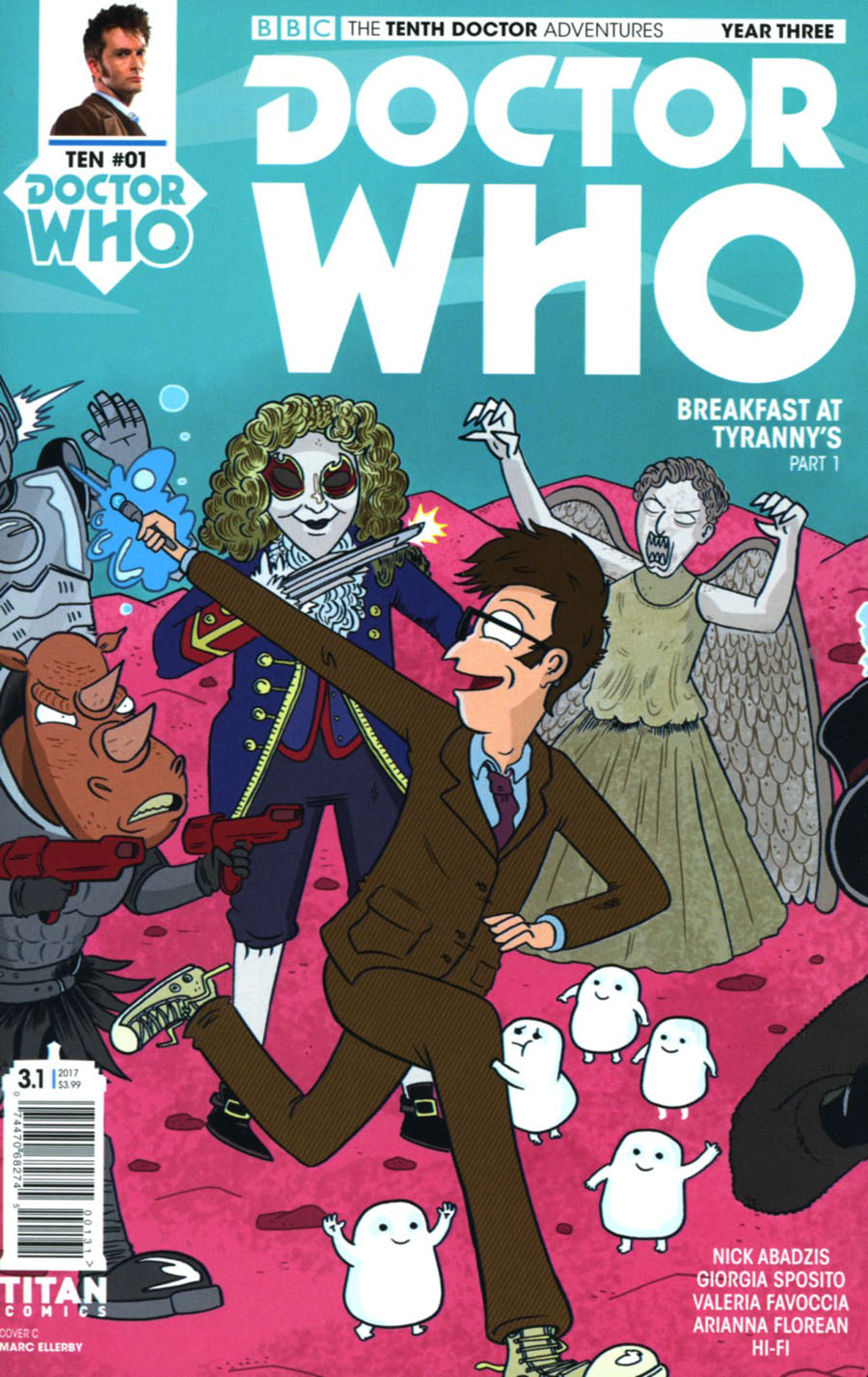 Doctor Who 10th Doctor Year Three #1 Cover C Variant Marc Ellerby Cover