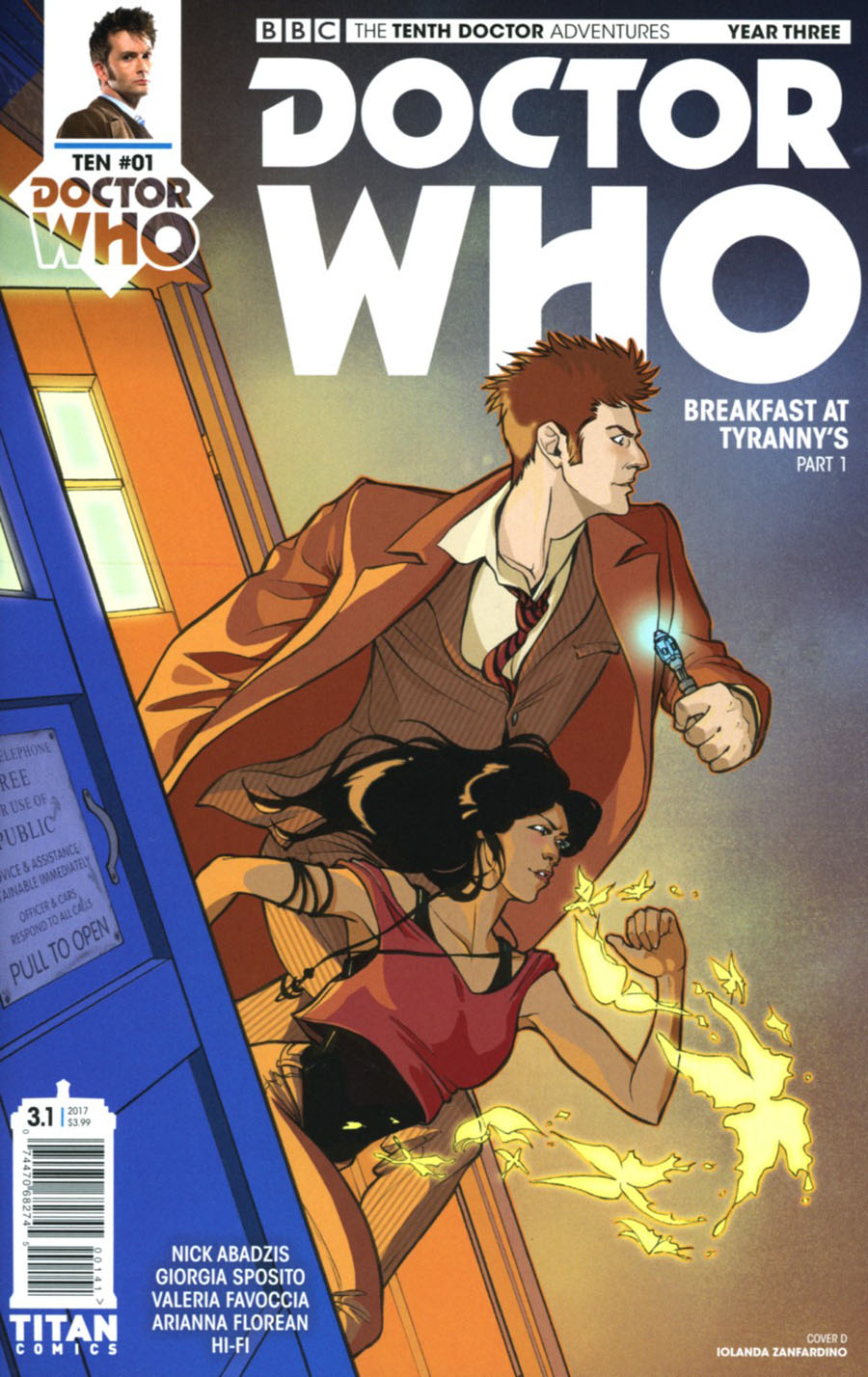 Doctor Who 10th Doctor Year Three #1 Cover D Variant Iolanda Zanfardino Cover