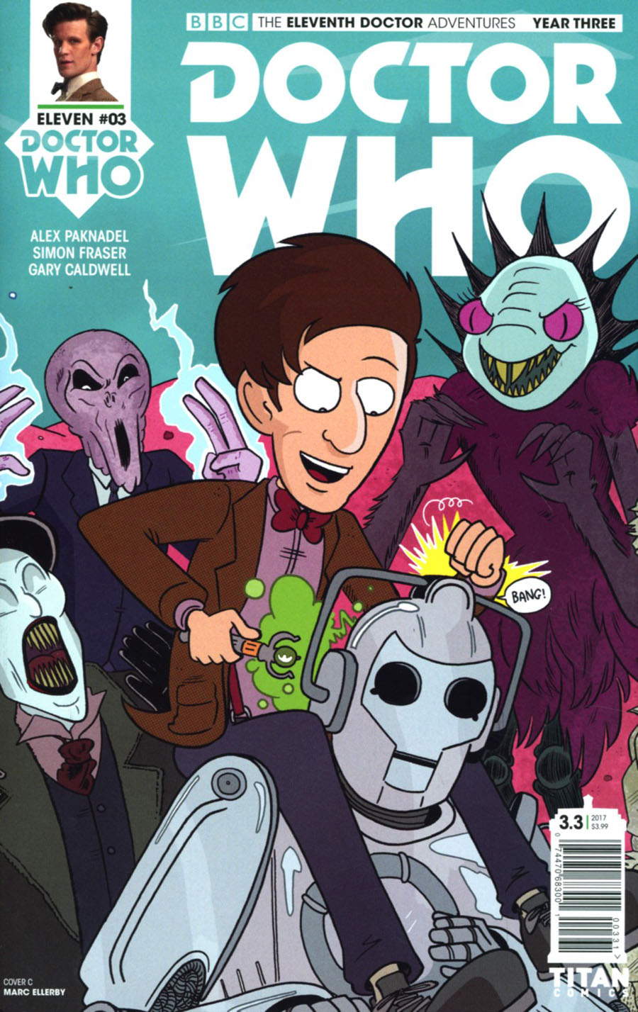 Doctor Who 11th Doctor Year Three #3 Cover C Variant Marc Ellerby Connecting Cover