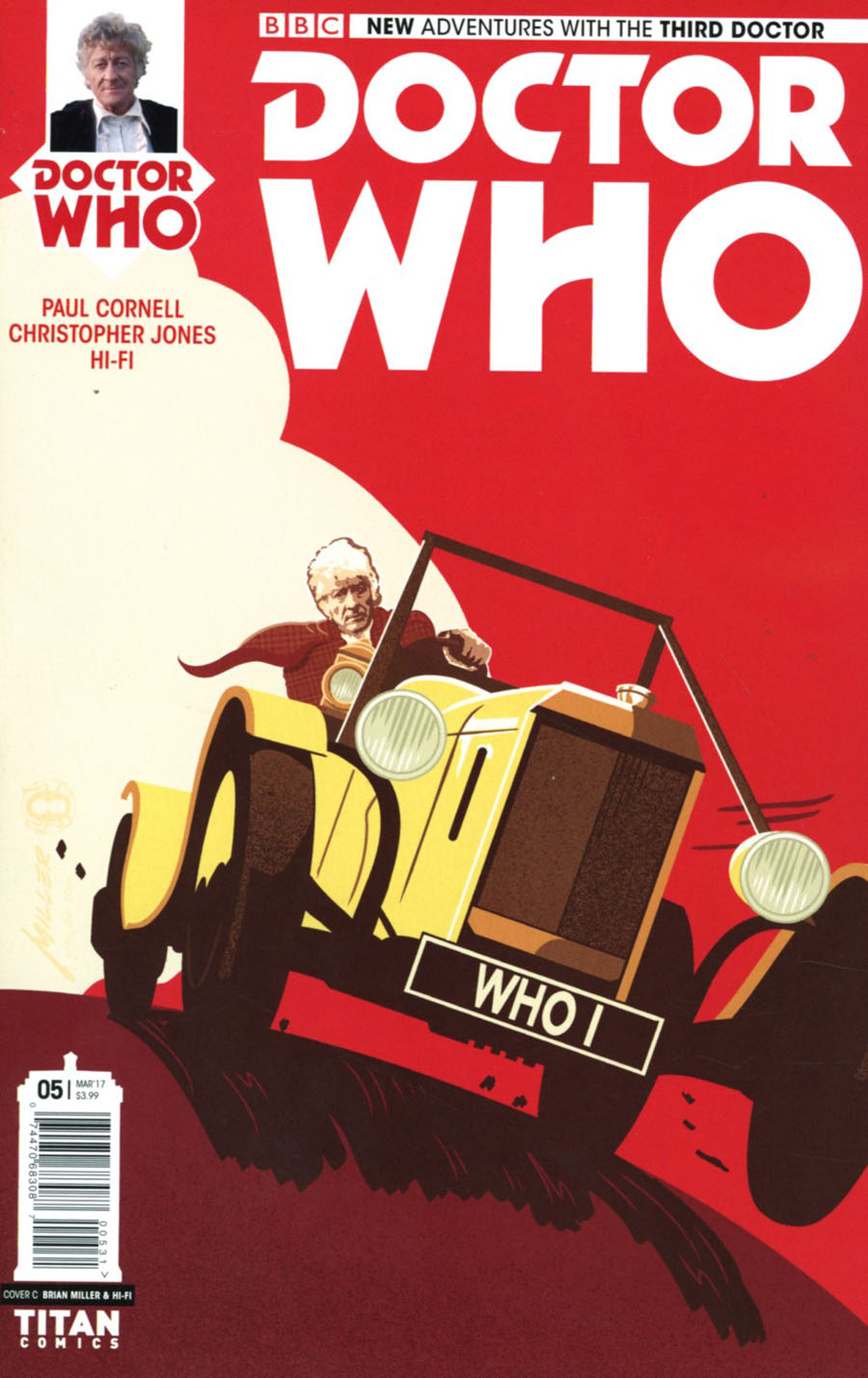 Doctor Who 3rd Doctor #5 Cover C Variant Brian Miller & Hi-Fi Cover