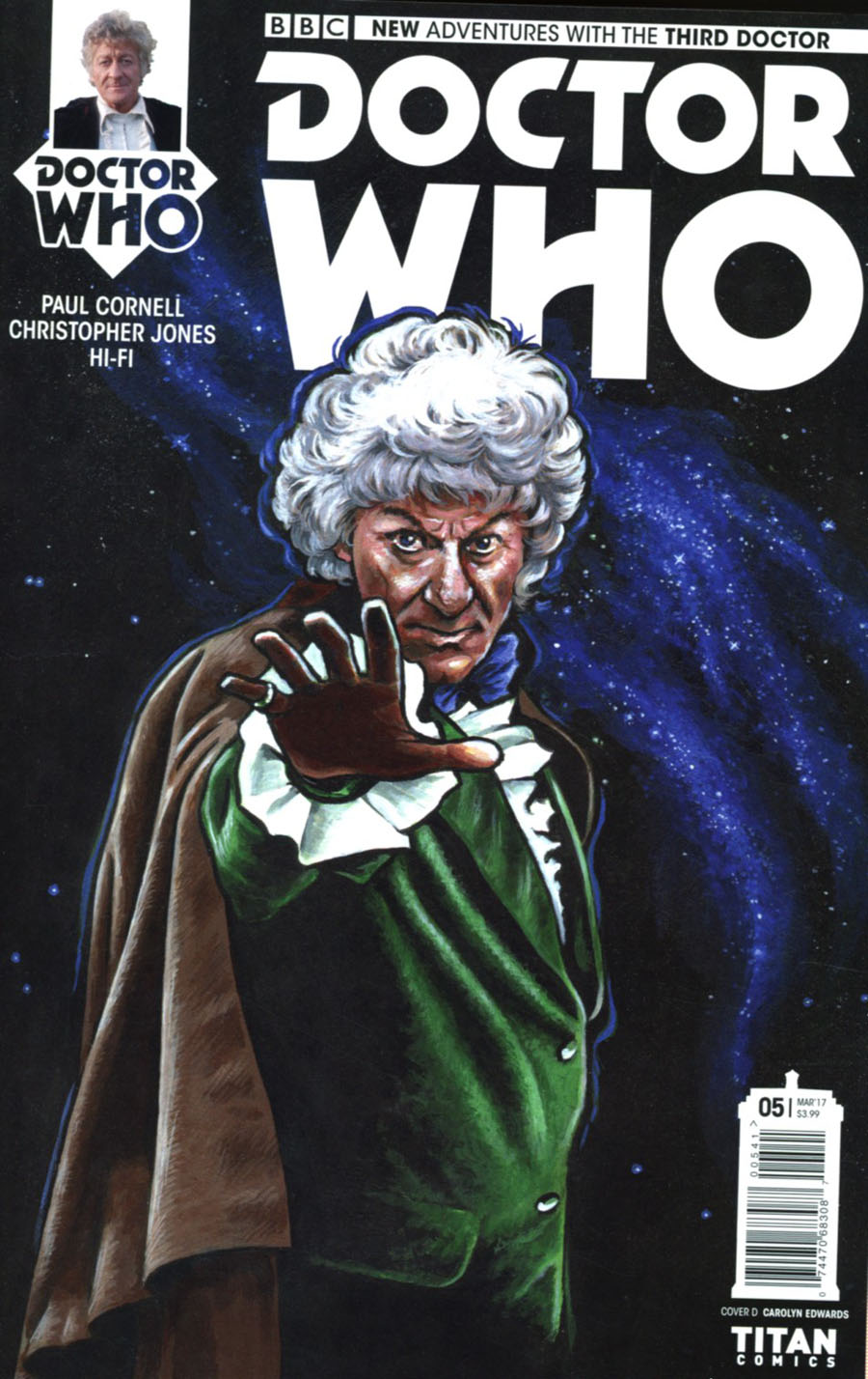 Doctor Who 3rd Doctor #5 Cover D Variant Carolyn Edwards Cover