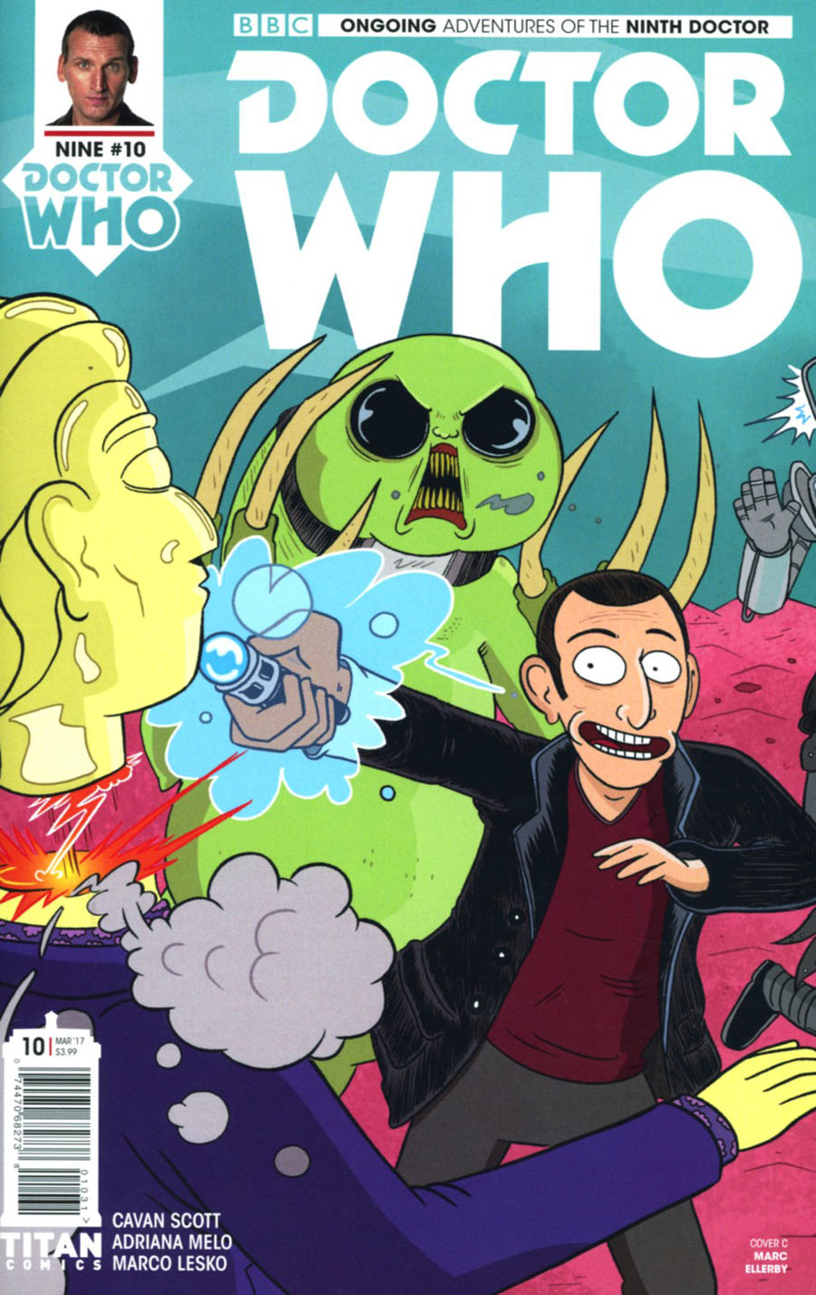 Doctor Who 9th Doctor Vol 2 #10 Cover C Variant Marc Ellerby Cover