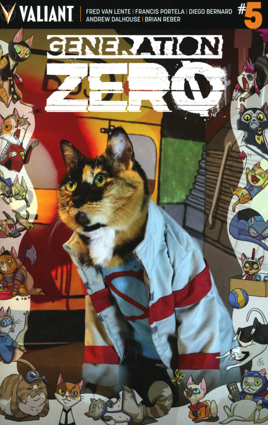 Generation Zero #5 Cover C Variant Valiant Cat Cosplay Cover