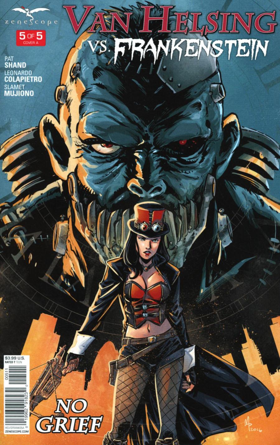 Grimm Fairy Tales Presents Van Helsing vs Frankenstein #5 Cover A Manuel Preitano