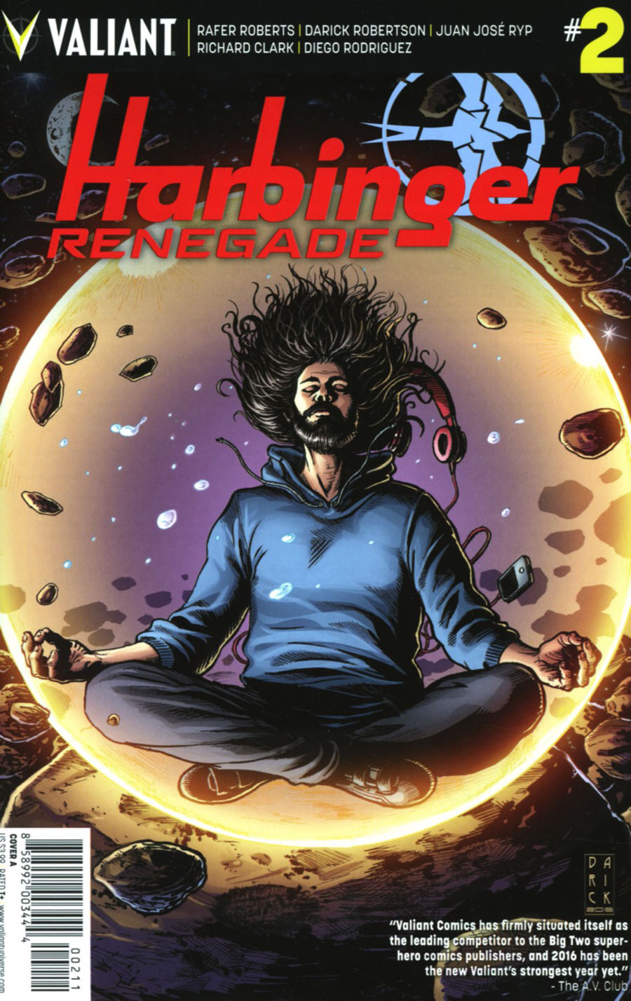 Harbinger Renegade #2 Cover A 1st Ptg Regular Darick Robertson Cover