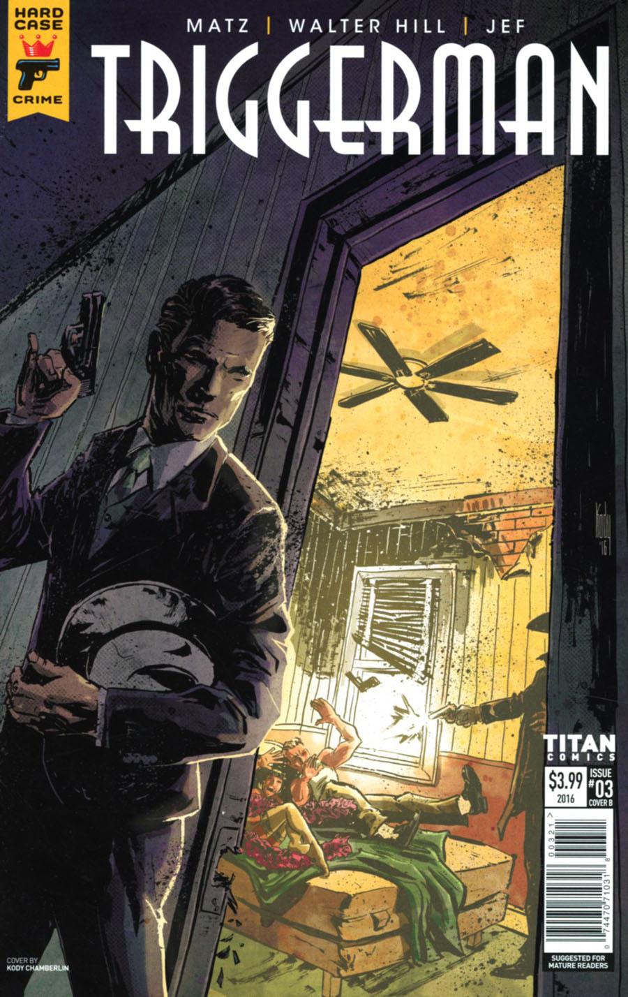 Hard Case Crime Triggerman #3 Cover B Variant Kody Chamberlin Cover