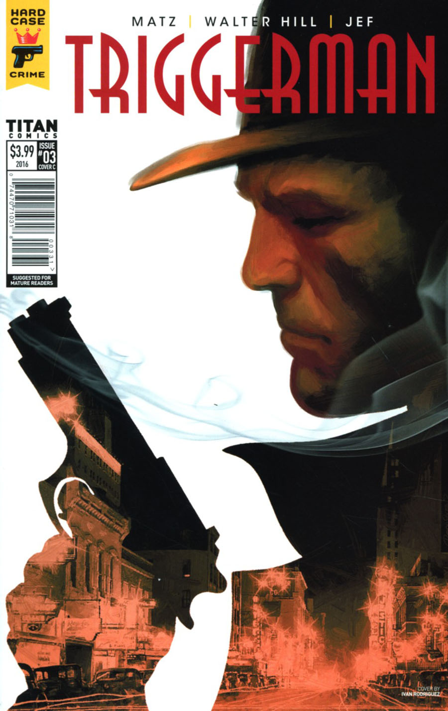 Hard Case Crime Triggerman #3 Cover C Variant Ivan Rodriguez Cover
