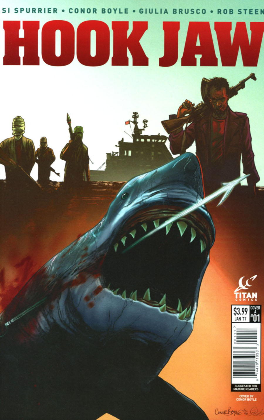 Hookjaw #1 Cover A Regular Conor Boyle Cover