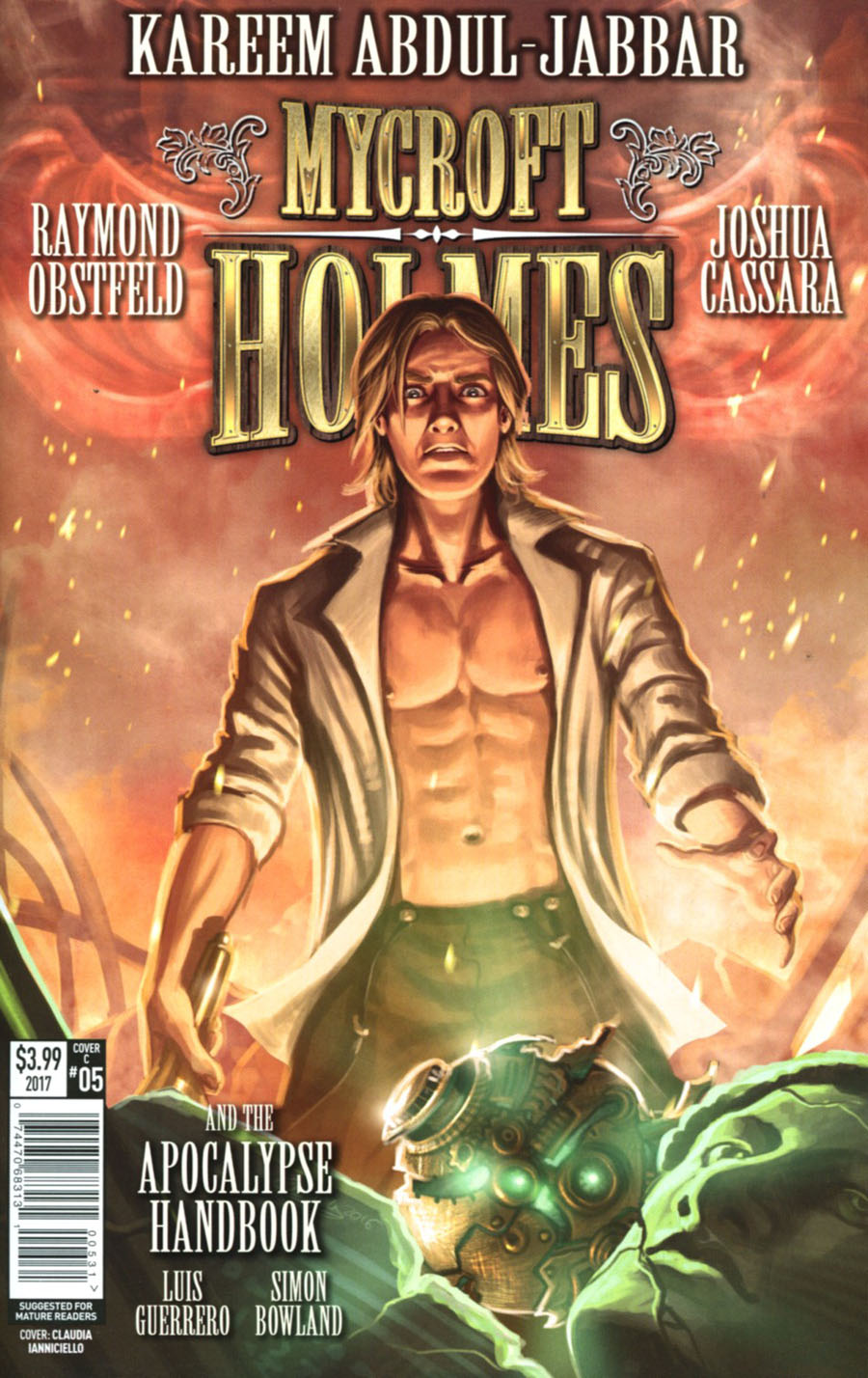 Mycroft Holmes And The Apocalypse Handbook #5 Cover C Variant Claudia Ianniciello Cover