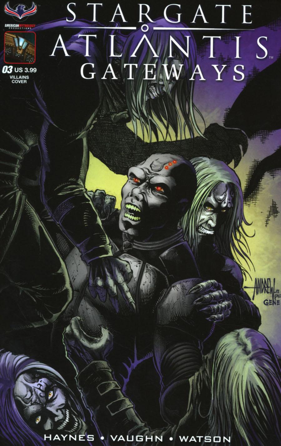 Stargate Atlantis Gateways #3 Cover B Variant Andrew Mangum Villains Subscription Cover