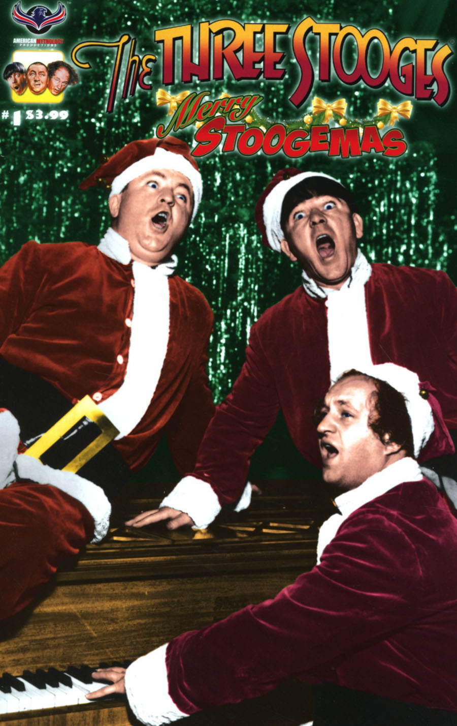 Three Stooges Merry Stoogemas Cover C Variant Photo Cover
