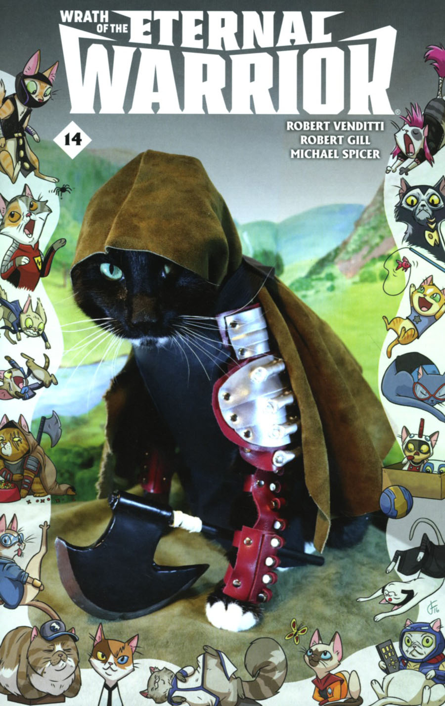 Wrath Of The Eternal Warrior #14 Cover C Variant Valiant Cat Cosplay Cover