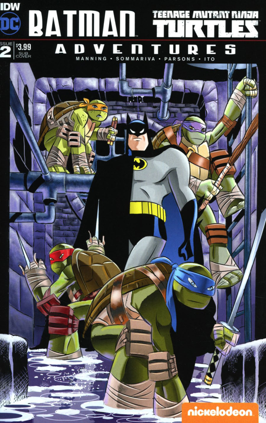 Batman Teenage Mutant Ninja Turtles Adventures #2 Cover B Variant Rick Burchett Subscription Cover