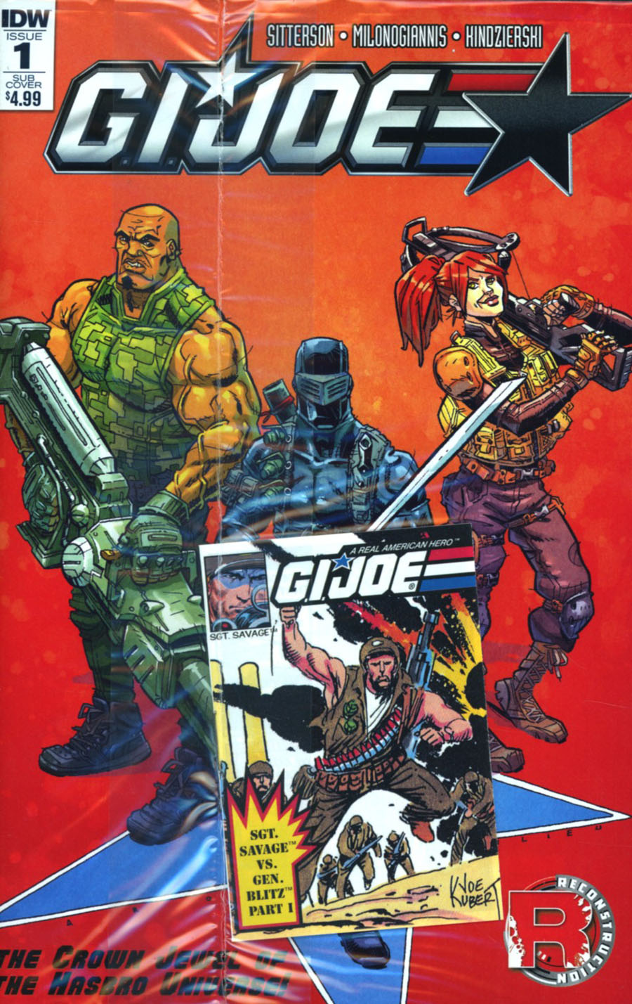 GI Joe Vol 8 #1 Cover D Variant Aaron Conley Micro Comic Cover