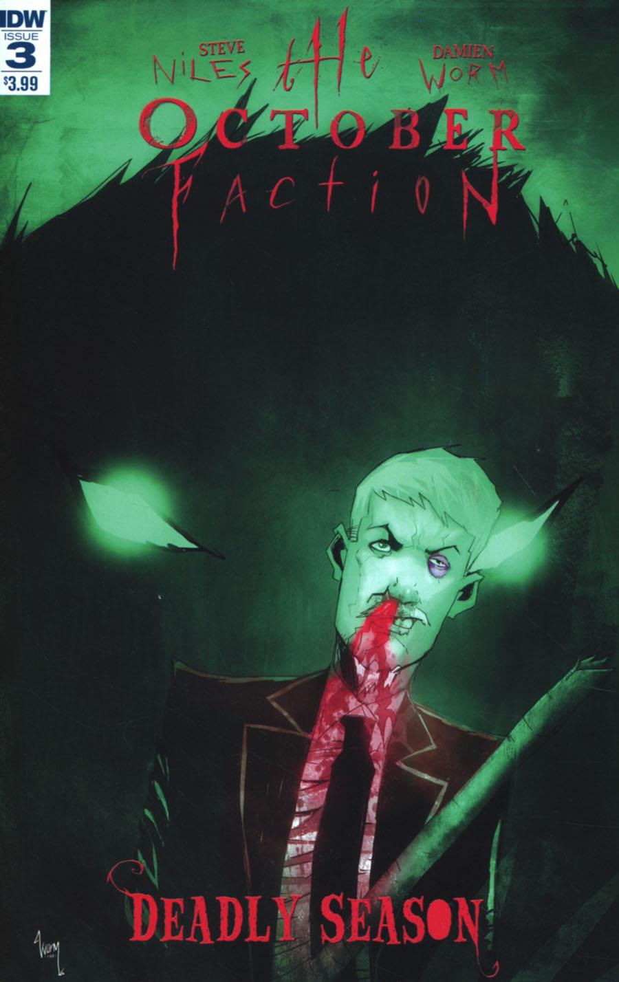 October Faction Deadly Season #3 Cover A Regular Damien Worm Cover