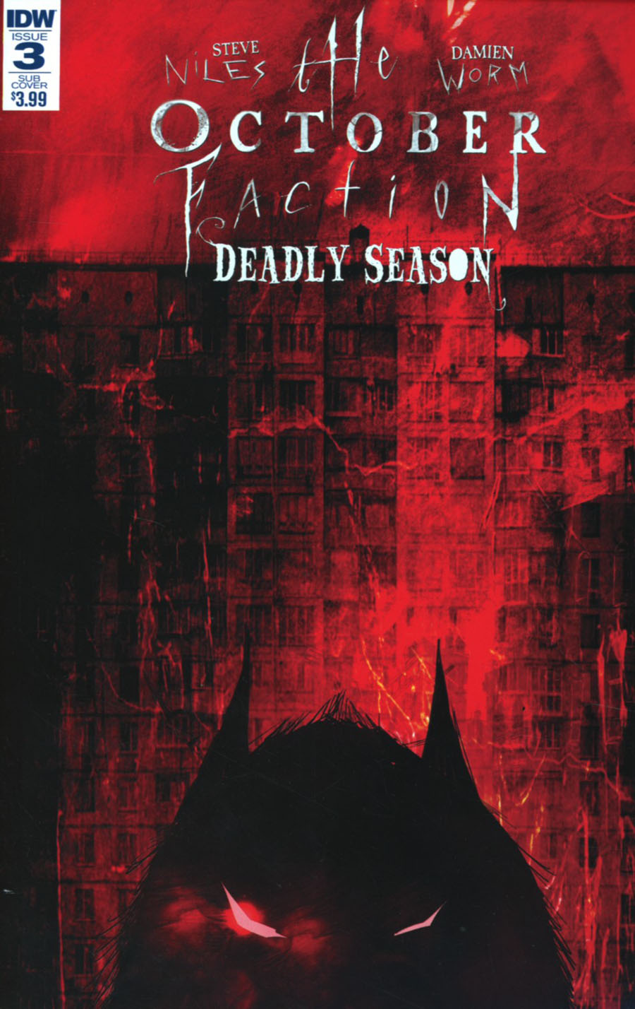 October Faction Deadly Season #3 Cover B Variant Damien Worm Subscription Cover