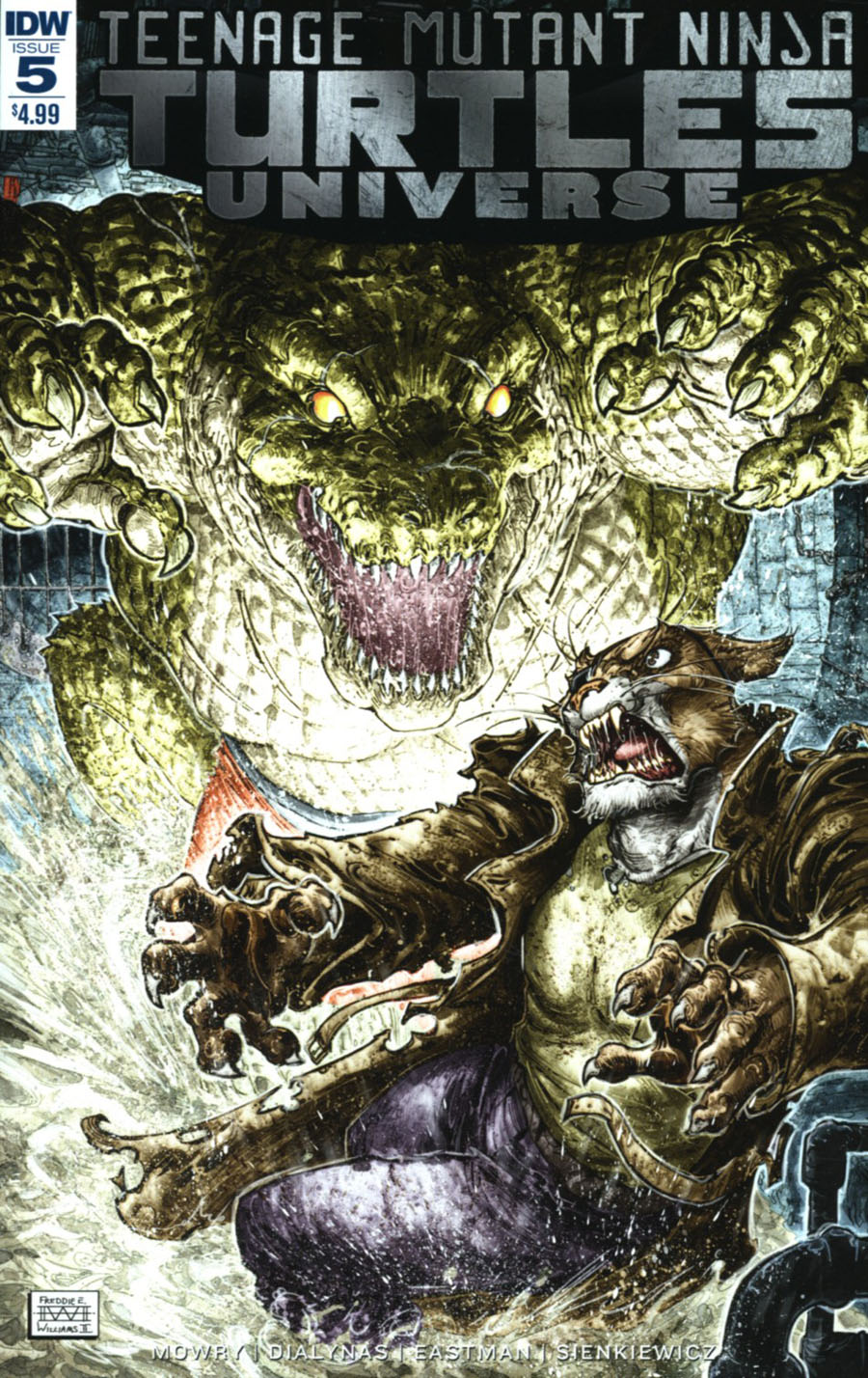 Teenage Mutant Ninja Turtles Universe #5 Cover A Regular Freddie Williams Cover