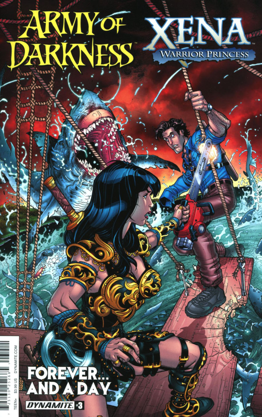 Army Of Darkness Xena Forever And A Day #3 Cover A Regular Nick Bradshaw Cover