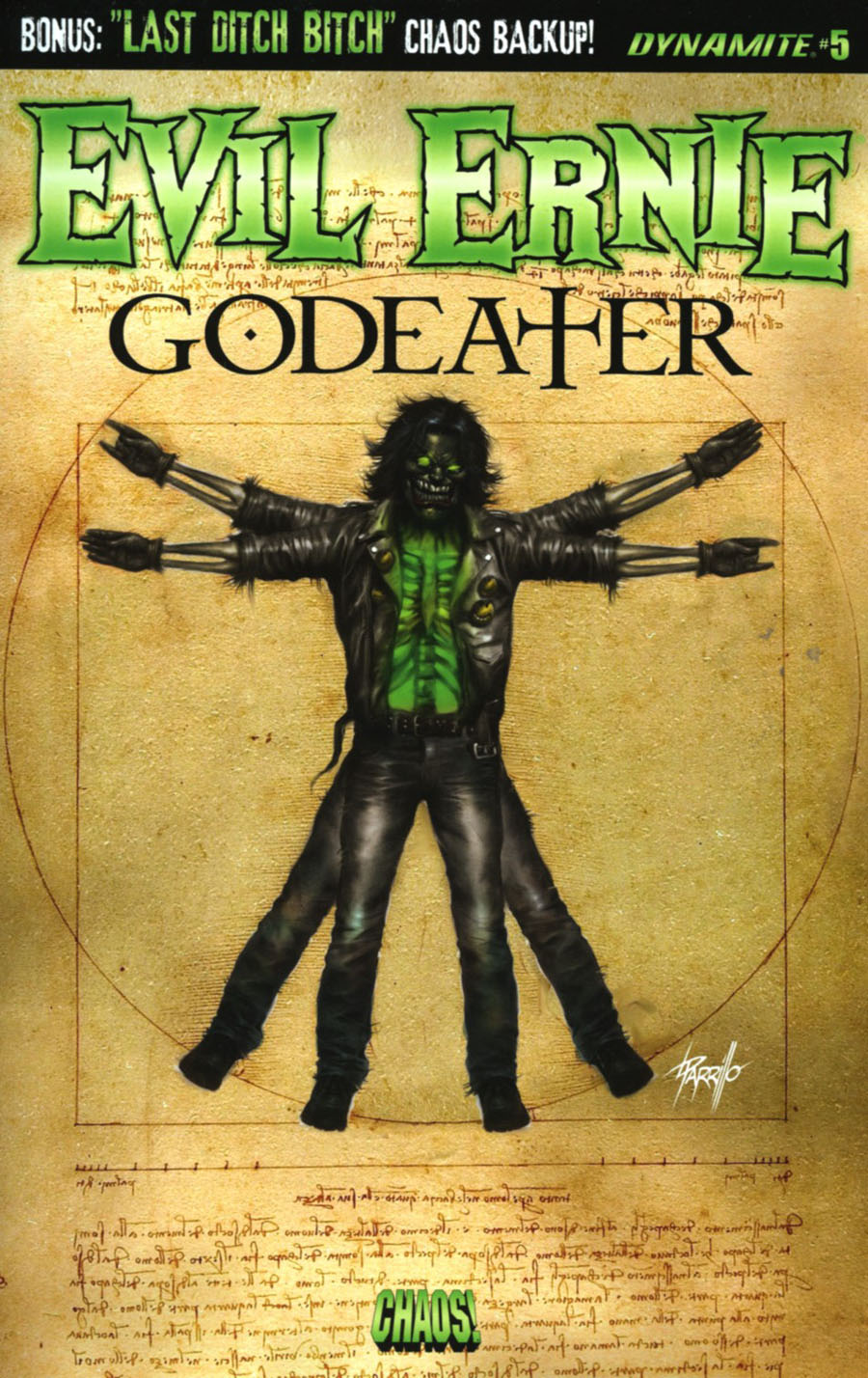 Evil Ernie Godeater #5 Cover A Regular Lucio Parillo Cover