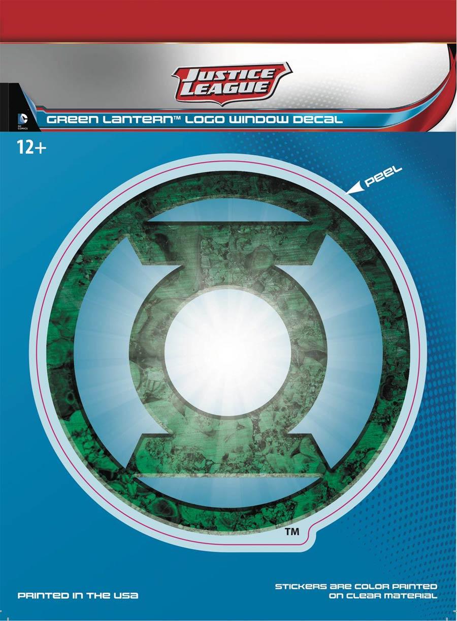 DC Comics Justice League Dimensional Logo Vinyl Decal - Green Lantern