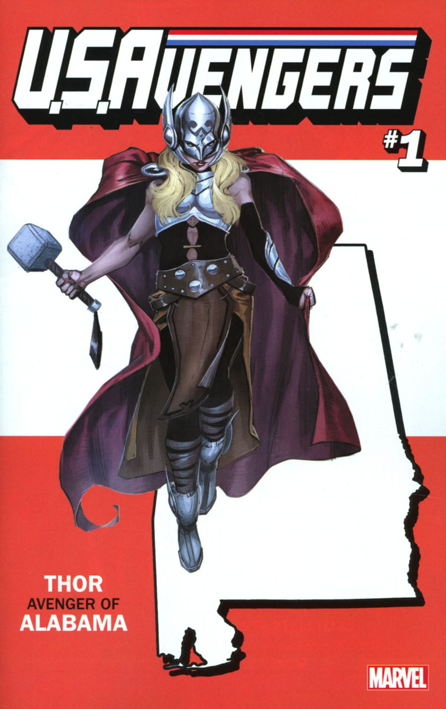 U.S.Avengers #1 Cover G Variant Rod Reis Alabama State Cover (Marvel Now Tie-In)