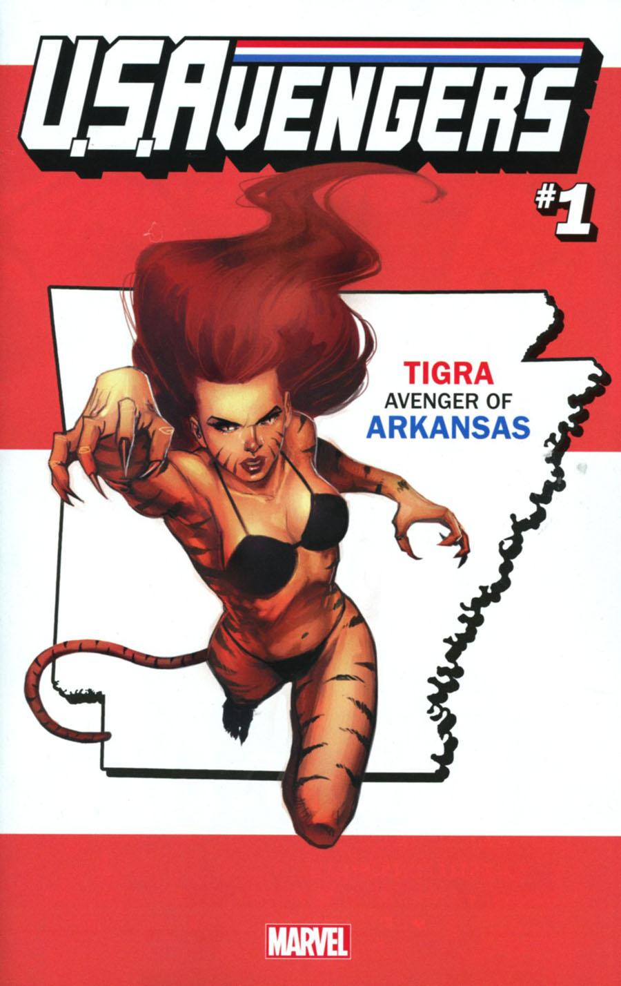 U.S.Avengers #1 Cover J Variant Rod Reis Arkansas State Cover (Marvel Now Tie-In)